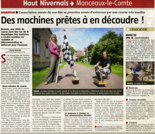 1/1<br />Article in the Journal du Centre about the Singer Street race